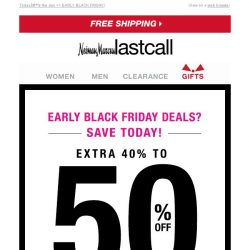 [Last Call] Extra 40%–50% off shoes, handbags, & jewelry