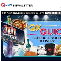 [Qoo10]  FREE GIFTS and 1+1 Deals with QxQuick Delivery! Hurry Grab While Stocks Last!
