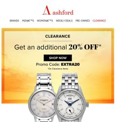 [Ashford] SO LUCKY! Save with our clearance sale 💰