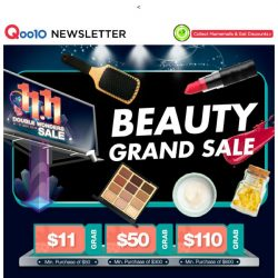 [Qoo10] 11.11 FINAL SALE: Beauty Top Deals + Free Giveaways!