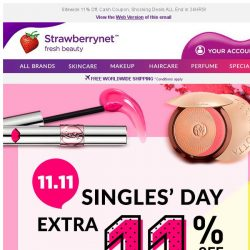 [StrawberryNet] , Last Chance to grab ALL Our Singles' Day Offers!