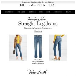 [NET-A-PORTER] Straight-up perfect jeans
