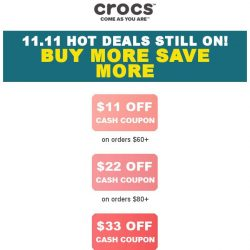 [Crocs Singapore] 👉Special Chance to save up to $33‼