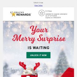 [Starbucks] 🎁 A merry surprise is waiting...