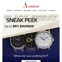 [Ashford] Black Friday Sneak Peek Watches Selling FAST