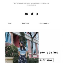 [MDS] So, what's NEW? | In-Stores & Online Now