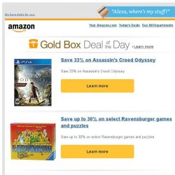 [Amazon] Save 33% on Assassin's Creed Odyssey