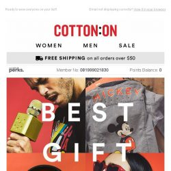[Cotton On] THE GIFT SHOP IS OPEN 🎁