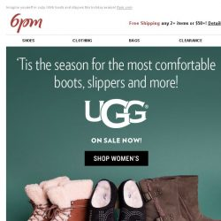 [6pm] It's UGG Season (and they're on sale)!