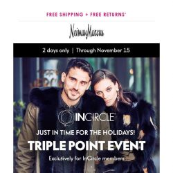 [Neiman Marcus] Triple InCircle Points: 2 days only