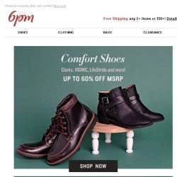 [6pm] Up to 60% Off VIONIC, Clarks & More!