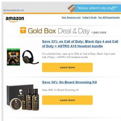[Amazon] Save 33% on Call of Duty: Black Ops 4 and Call...