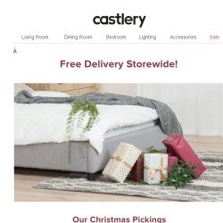 [Castlery] Free. Delivery. No min. spend!