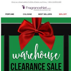 [FragranceNet] Outlet weekend sale! Clearance markdowns starting at $5.99…