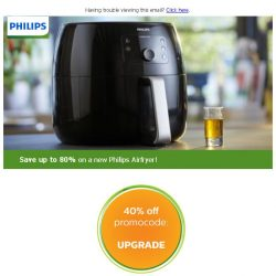 [PHILIPS] Save up to 80% on a new Philips Airfryer!