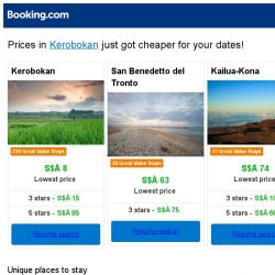 [Booking.com] Prices in Kerobokan are dropping for your dates!