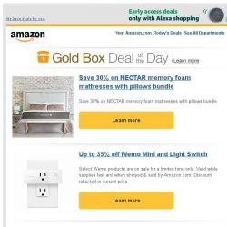 [Amazon] Save 30% on NECTAR memory foam mattresses with...