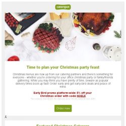 [CaterSpot] Time to order your Christmas Catering - caterers book up fast!