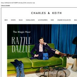[Charles & Keith] Dial up the dazzle this holiday in our party pieces.
