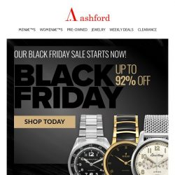 [Ashford] Black Friday sale starts NOW!
