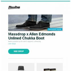 [Massdrop] Massdrop x Allen Edmonds Unlined Chukka Boot, Montblanc Heritage Chronométrie Dual Time Automatic, Guilds of Ravnica Guild Kit (Set of 5) and more...