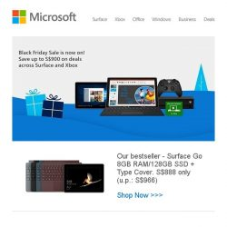 [Microsoft Store] Black Friday deals start now: Save up to S$900