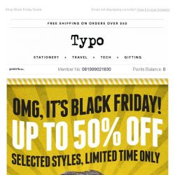 [typo] Black Friday has come early!