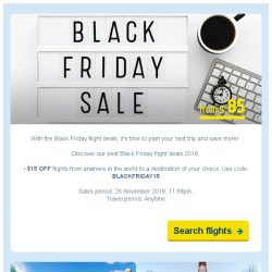[cheaptickets.sg] 😎Black Friday Sale   Flights from $85