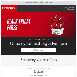 [Emirates] Book our Black Friday fares from SGD 719* return