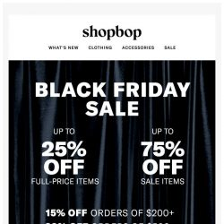 [Shopbop] Happy Black Friday! Up to 75% off with code MORE18