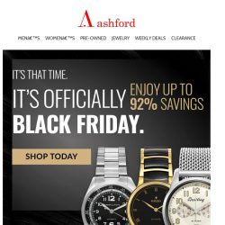 [Ashford] Don't let Black Friday deals pass you by!