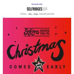 [Selfridges & Co] Ends tomorrow: up to 20% off at Selfridges