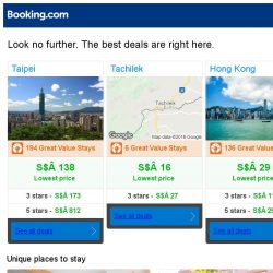 [Booking.com] Taipei, Tachilek, or Hong Kong? Get great deals, wherever you want to go