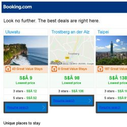[Booking.com] Uluwatu, Trostberg an der Alz, or Taipei? Get great deals, wherever you want to go