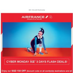 [AIRFRANCE] ⚡ It's Cyber Monday! Open now