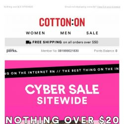 [Cotton On] Jewelry NOW $1, Tanks NOW $5, Tees NOW $7