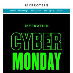 [MyProtein] [Ends Tonight] Cyber Monday Madness! 🎆