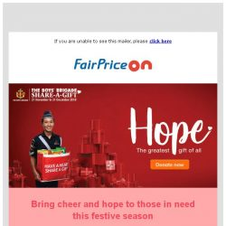 [Fairprice] Share A Gift & Bring Cheer To Those In Need