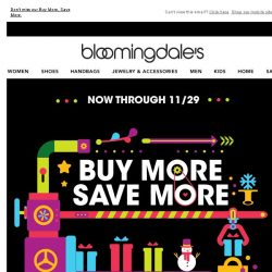 [Bloomingdales] Take $25-$150 off--2 days only!