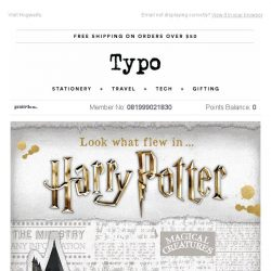 [typo] Harry Potter has arrived at Typo!