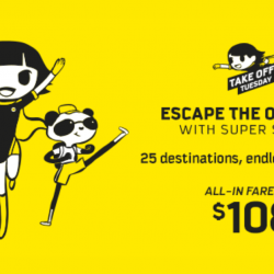 Scoot: Take Off Tuesday with 25 Destinations on Sale from SGD108!