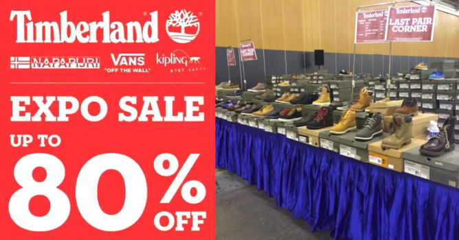 a867df9661 1 - 4 Nov 2018 Timberland: Expo Sale up to 80% OFF Timberland, Vans, Kipling  & Napapijri