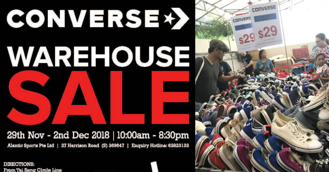 29 Nov - 2 Dec 2018 Converse  Year-End Warehouse Sale 2018 with Mega  Discounts on Apparel 103f588d1