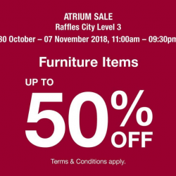 MUJI: Atrium Sale with Up to 50% OFF Furniture Items at Raffles City