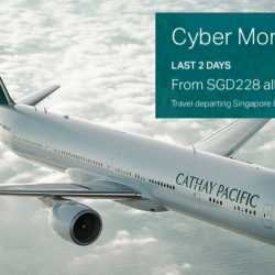 Cathay Pacific: Cyber Monday Sale with Special Economy Class Fares from SGD228 All-In!