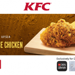 KFC: Pay $0.50 (UP $3.80) for 1 Pc of Goldspice Chicken with DBS/POSB Cards!