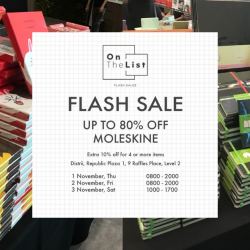 On The List: Flash Sale with Up to 80% OFF Moleskine Notebooks, Travel Accessories, Writing Tools, Organisers, Bags & More