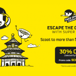 Scoot: Take Off Tuesday with 30% OFF More than 50 Destinations!