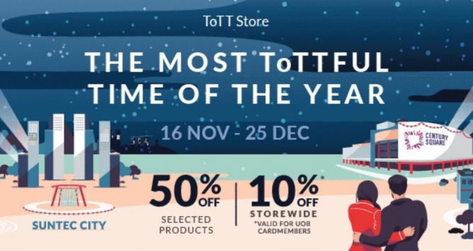 e41ab3493b3e23 16 Nov - 25 Dec 2018 ToTT  Christmas Sale with Up to 50% OFF Selected  Products   10% OFF Storewide with UOB Cards