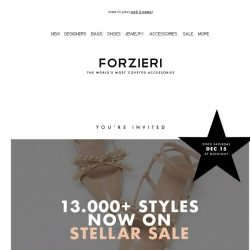[Forzieri] Over 13000 styles Now on SALE